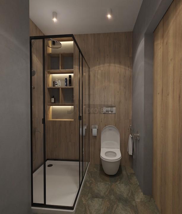 Интерьер ванная гарсоньерки Квартал Wellton Park в Москве