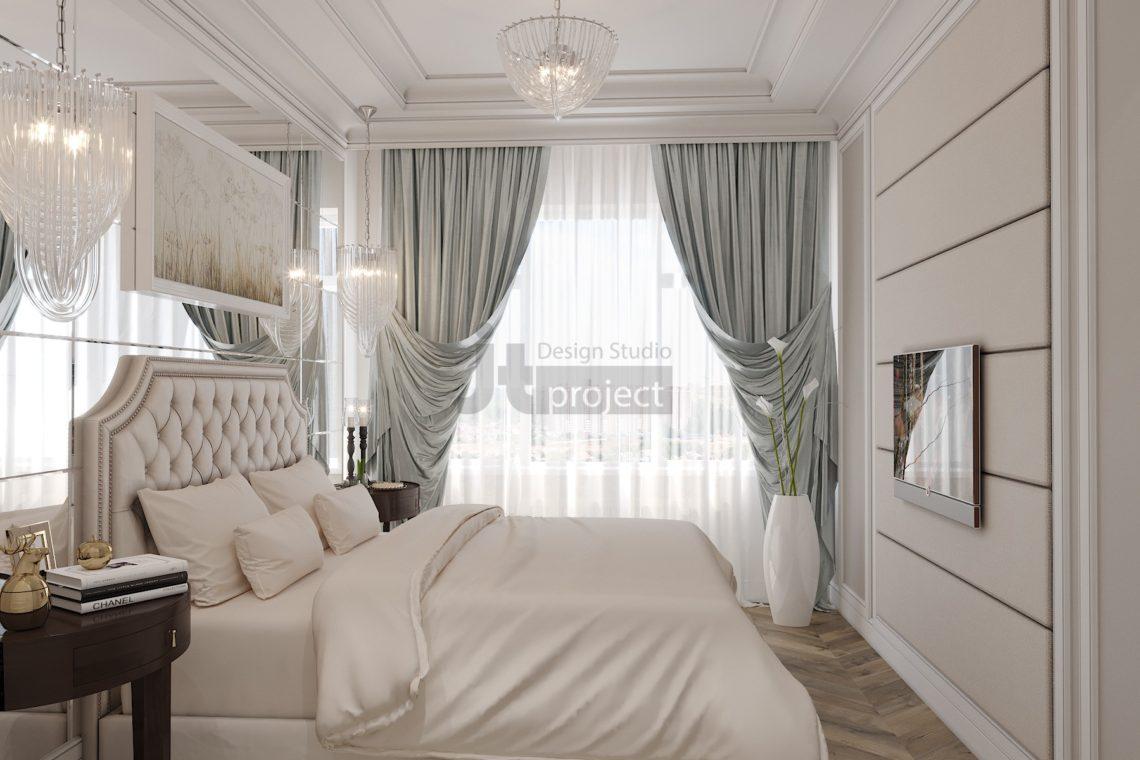 Дизайн Гостевой спальной Истра Вилладж Парус