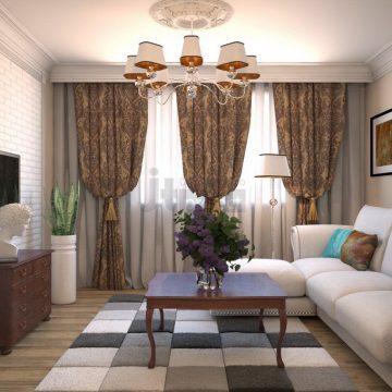 интерьер гостиной в Москве