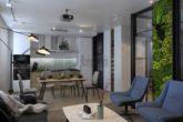 Гостиная дизайн интерьера Гарсоньерка Wellton Park