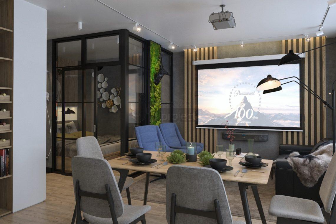Гостиная дизайн Гарсоньерка Wellton Park