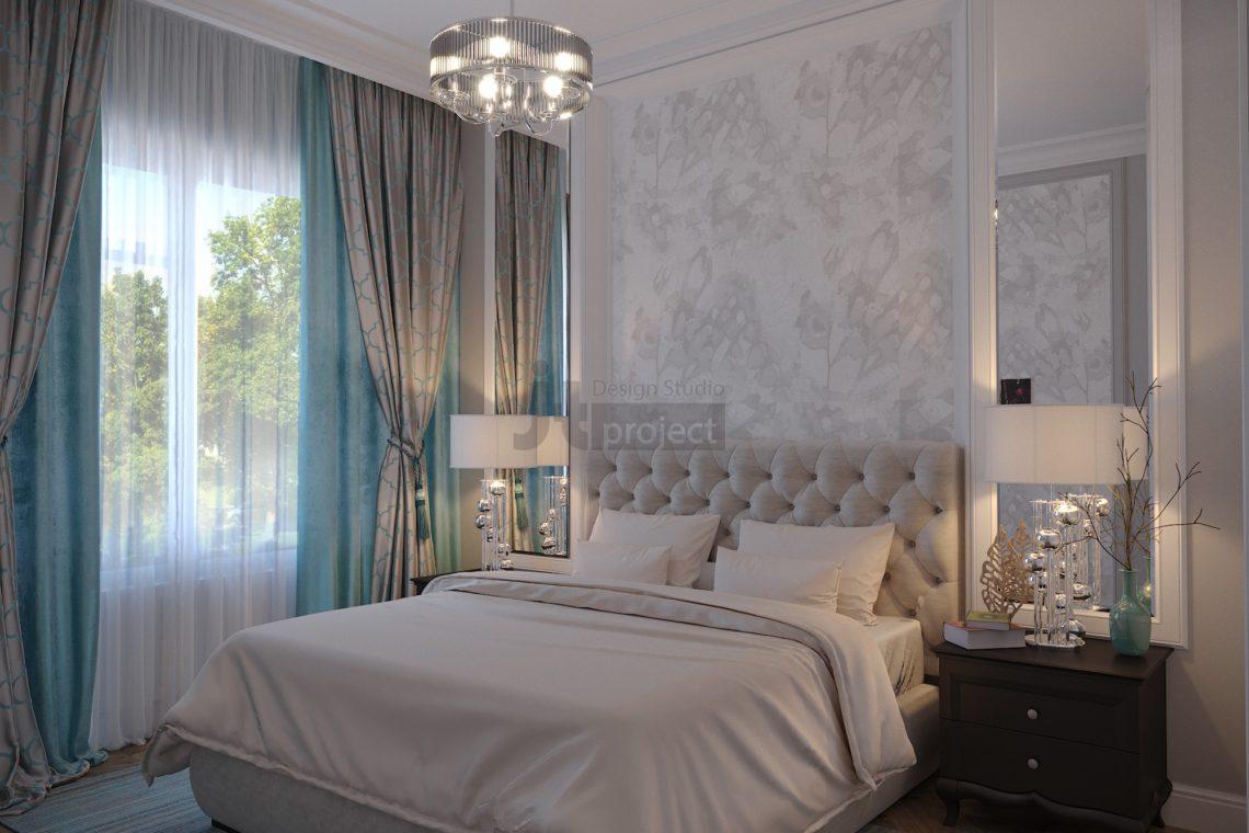 Дизайн Гостевой спальной комнаты Истра Вилладж Парус