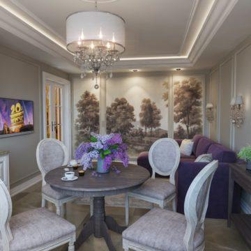 Кухня-гостиная Интерьер квартиры Володарского