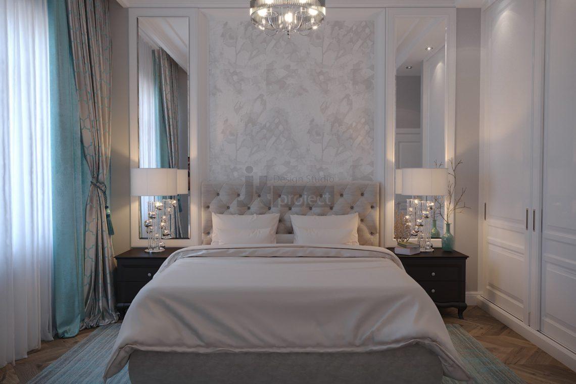 Интерьер Гостевой спальной комнаты Истра Вилладж Парус