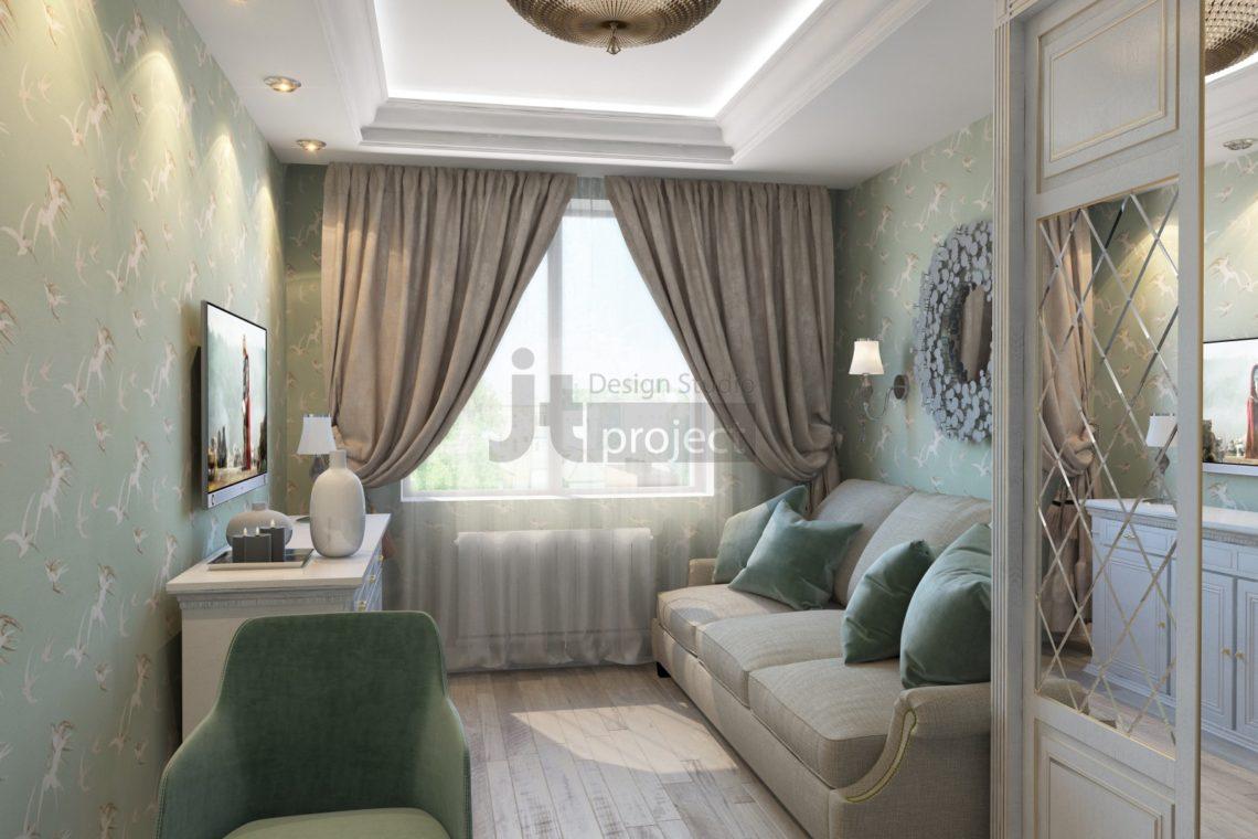 дизайн спальная комната в поселке Володарского