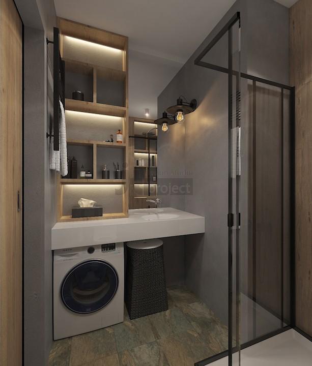 Интерьер ванная комната гарсоньерки Квартал Wellton Park в Москве