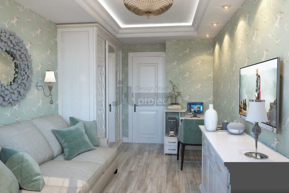 Дизайн спальная комната в поселке Володарского 2