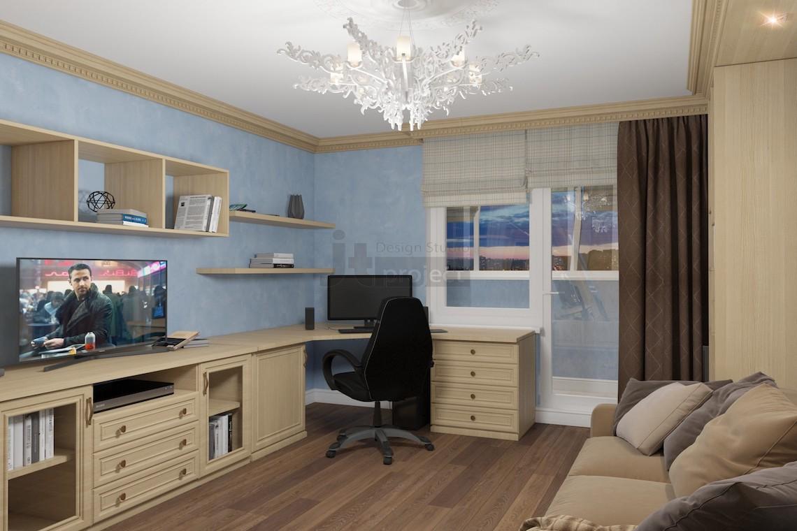 Интерьер спальни на Матвеевской