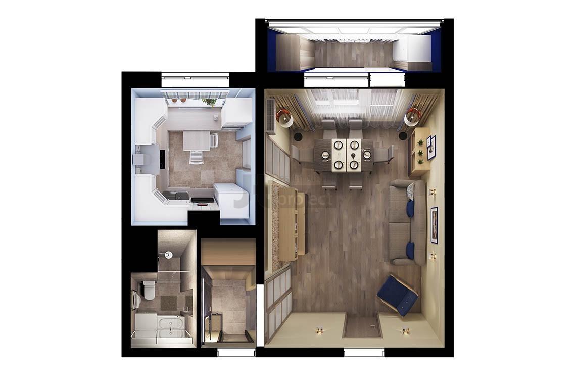 Планировка квартиры на Марьинском Парке