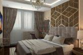 Интерьер спальной комнаты ЖК Wellton Park