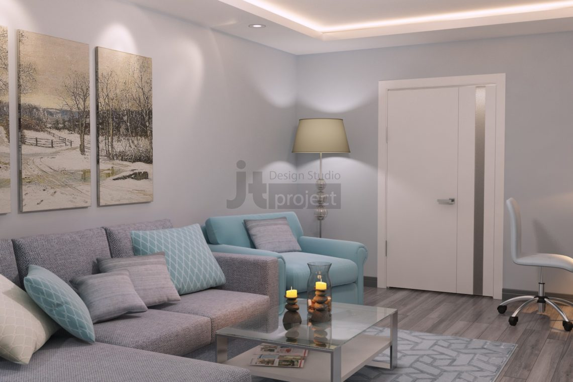 Дизайн гостиной UP-квартал