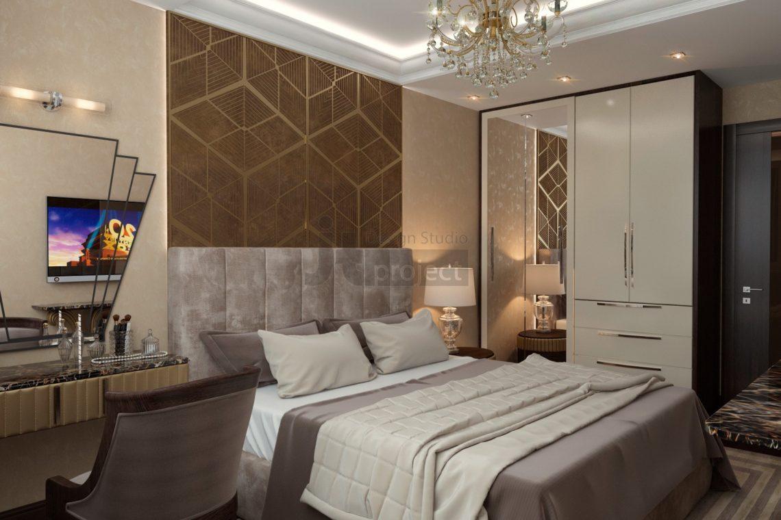 Интерьер спальной комнаты Wellton Park