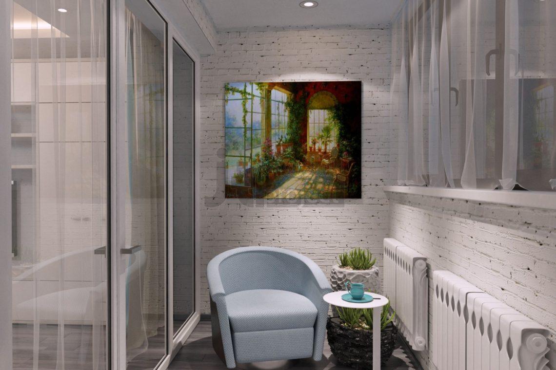 Дизайн Лоджии гостиной UP-квартал