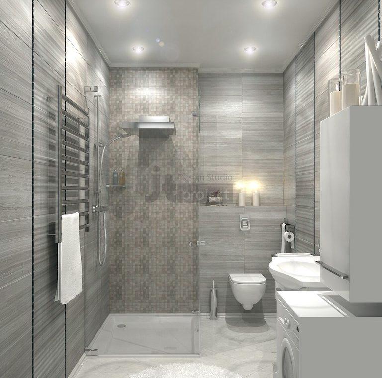 дизайн интерьера Ванная комната в ЖК Dominion