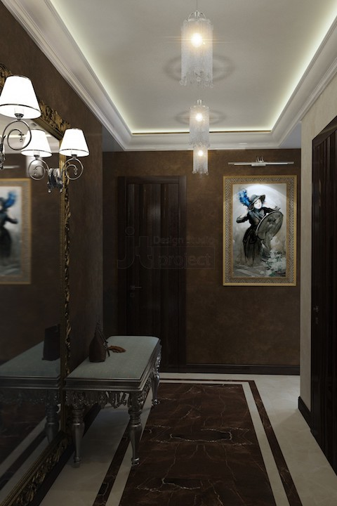 Интерьер прихожая Квартал Wellton Park в Москве