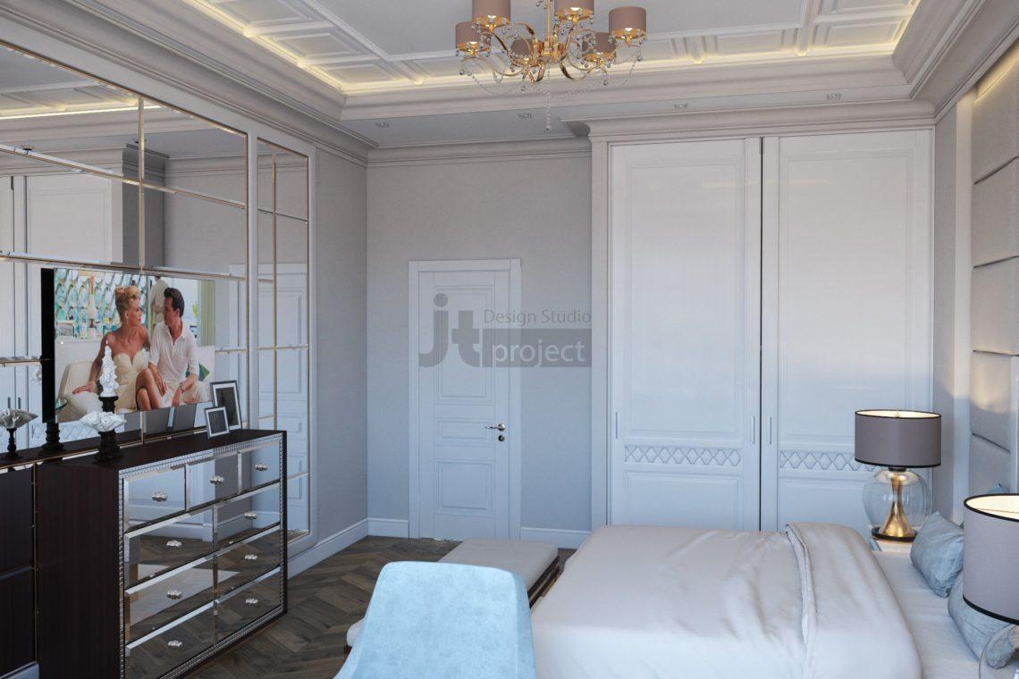 Дизайн спальной комнаты Истра Вилладж Парус