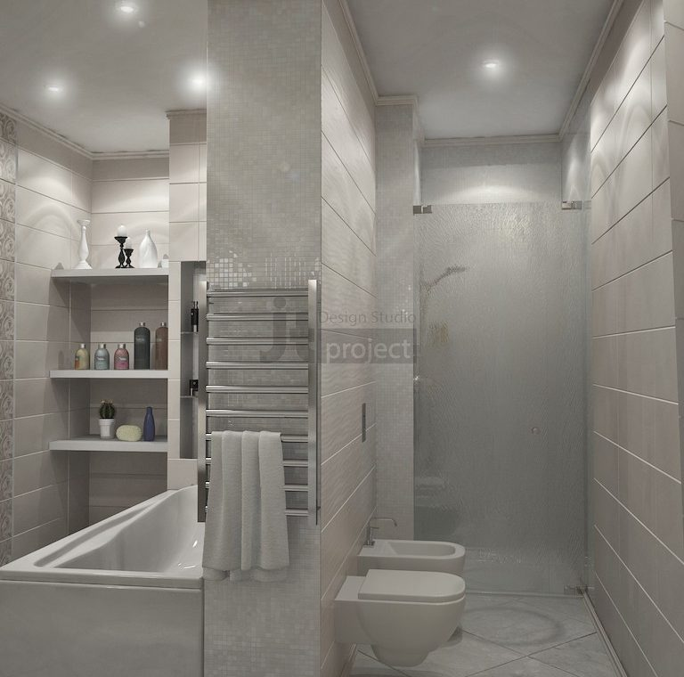 Интерьер Ванная комната в ЖК Dominion