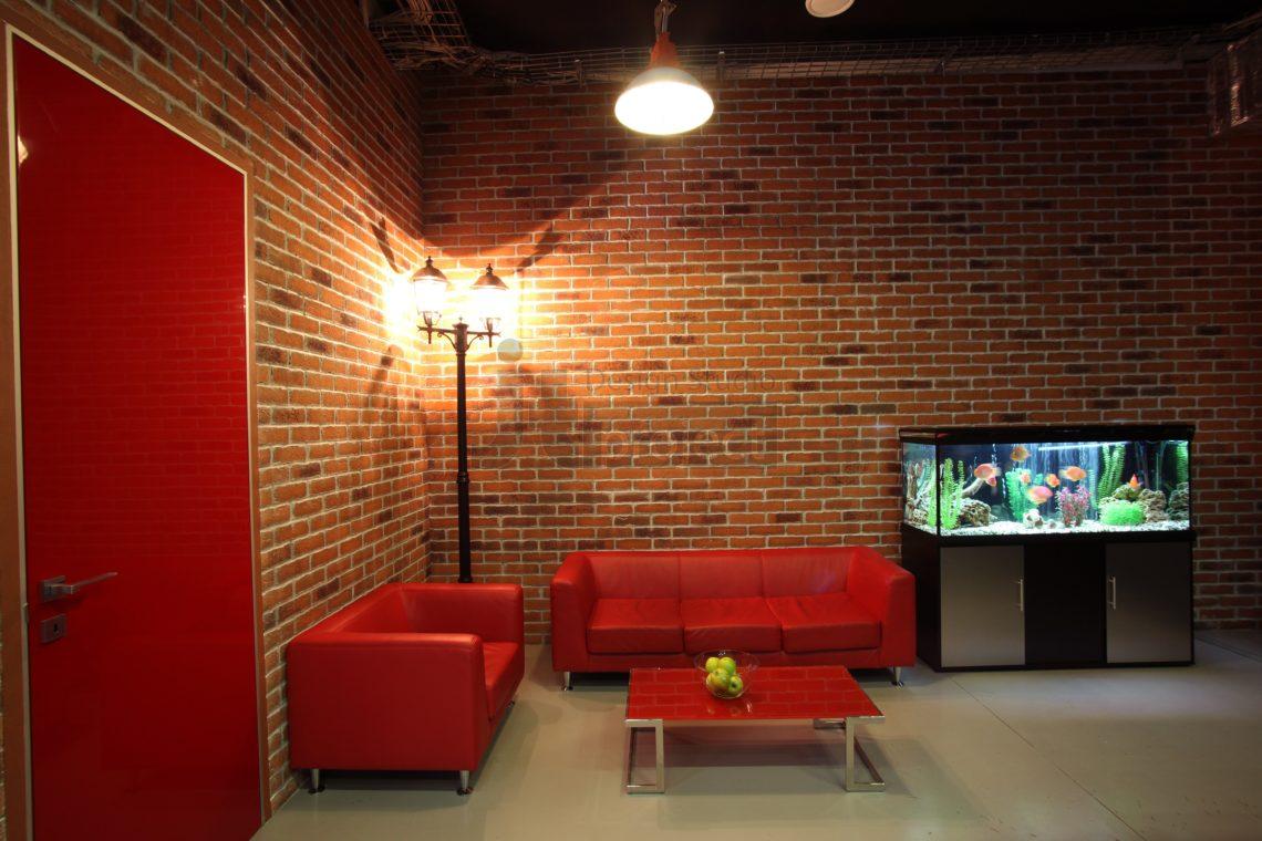 Интерьер reception офиса компании Paolo Conte