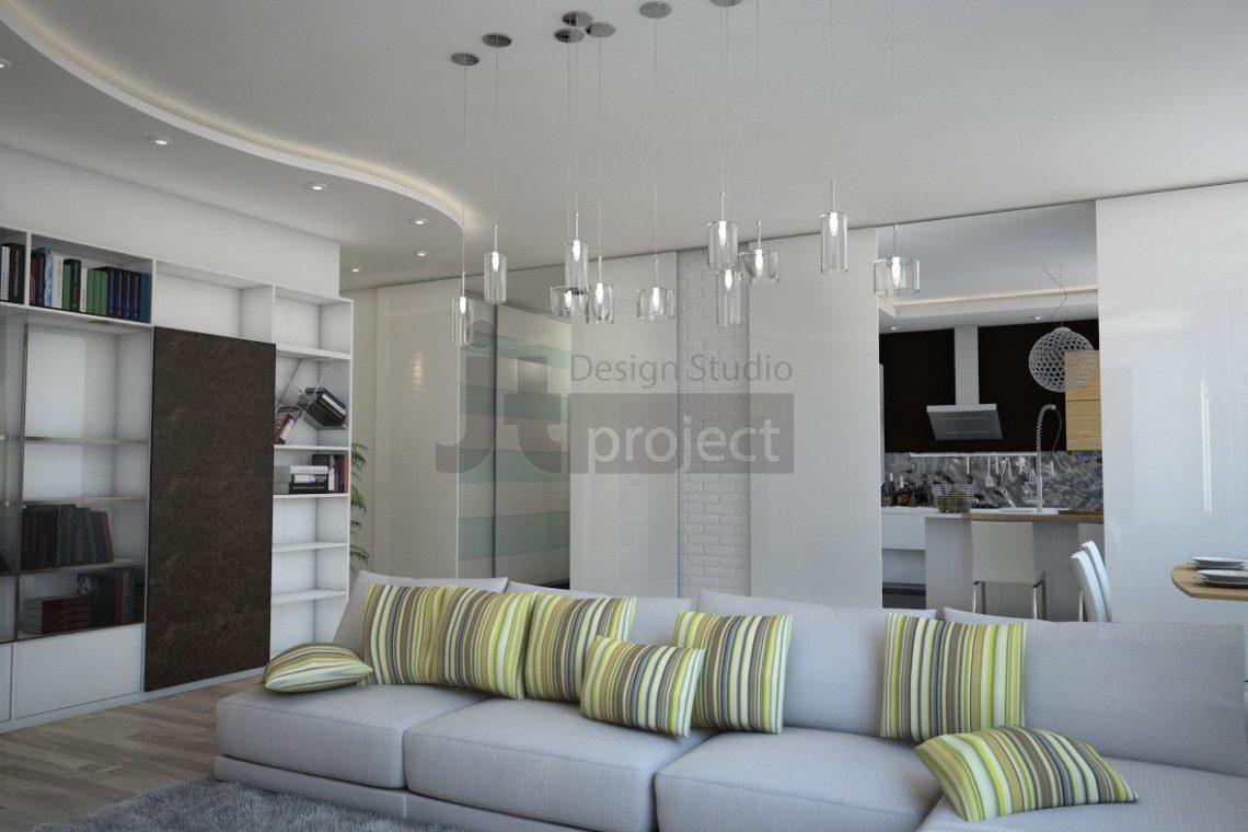 Дизайн гостиная ЖК Dominion