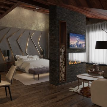 Интерьер спальной комнаты на втором Дом в Ростове-на-Дону