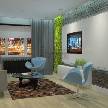 Дизайн гостиной в ЖК Эко Видное