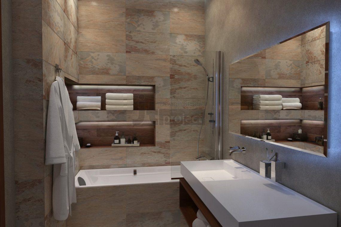Интерьер гостевой ванной комнаты Дом в Ростове-на-Дону