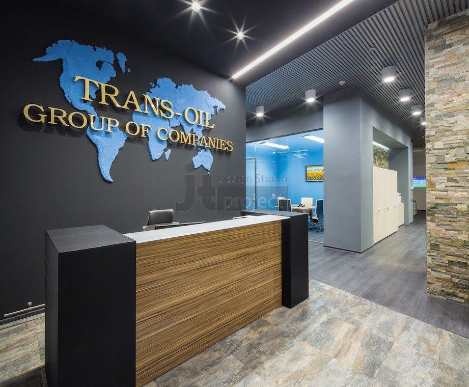 Интерьер Ресепшн Trans Oil в Бухаресте