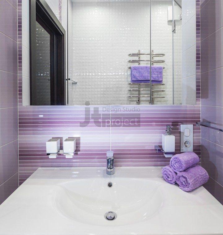 Интерьер ванной комнаты ЖК Петровский парк