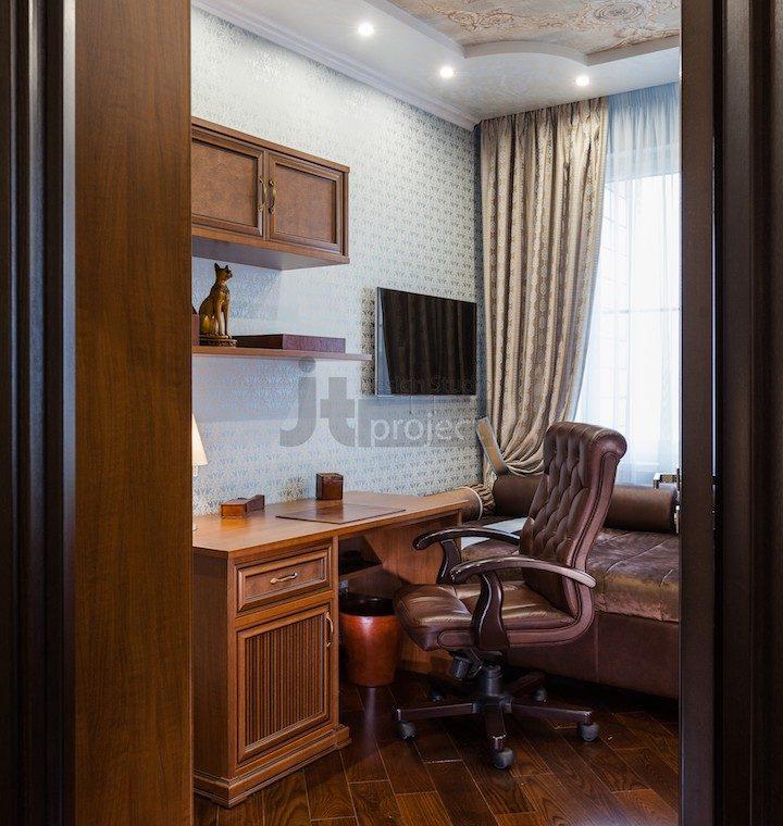 Кабинет интерьер в ЖК Петровский парк