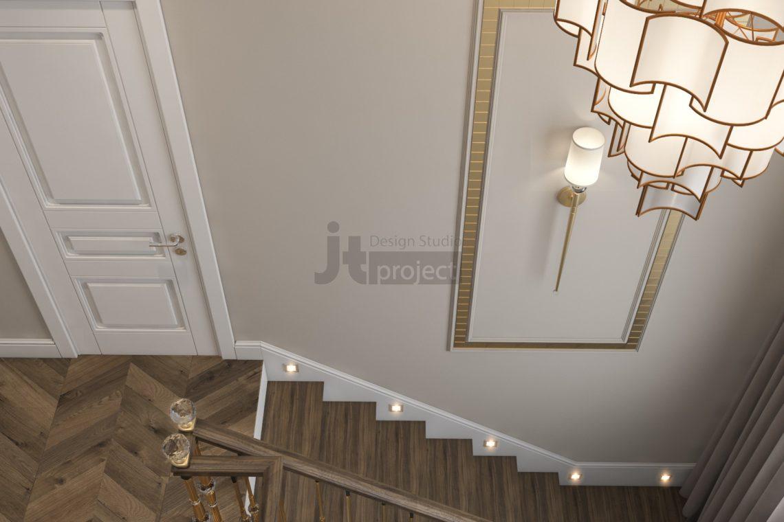 Дизайн лестницы Истра Вилладж Парус