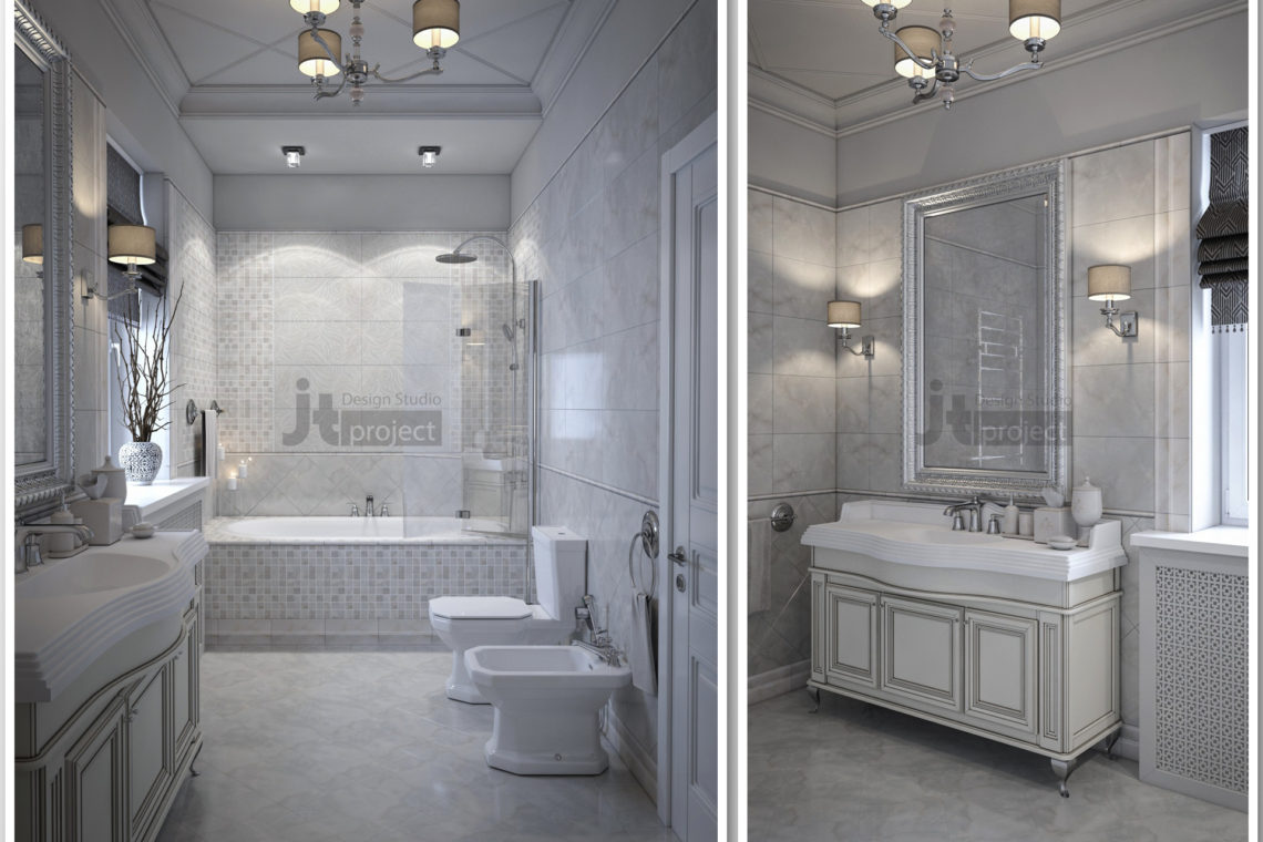 Интерьер Ванная комната Истра Вилладж Парус