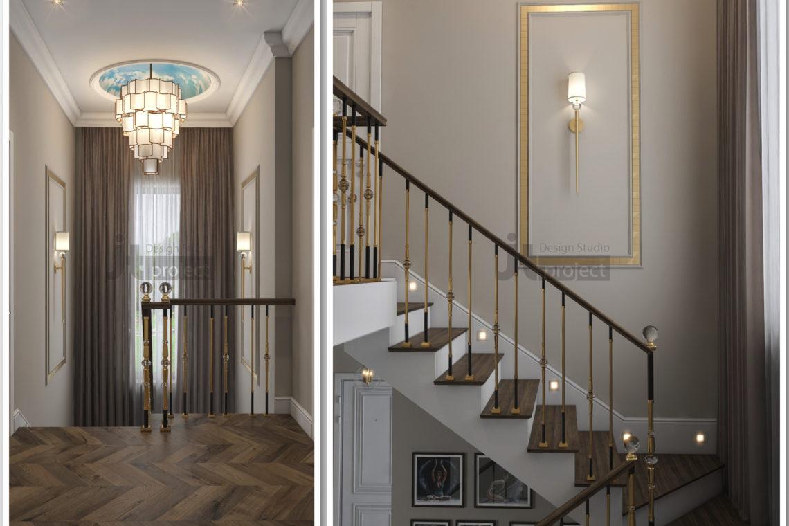 Дизайн лестница Истра Вилладж Парус