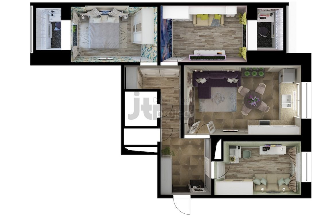 Планировка квартиры Володарского