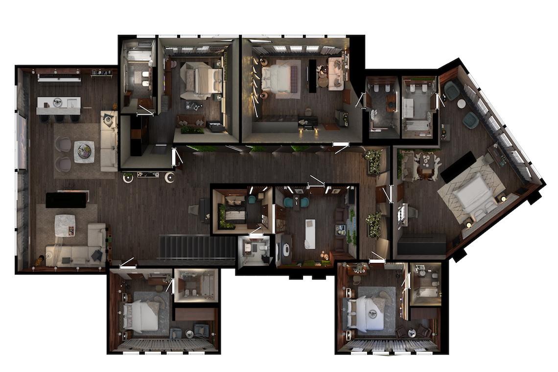 Планировочное решение 2 этаж Дом в Ростове-на-Дону