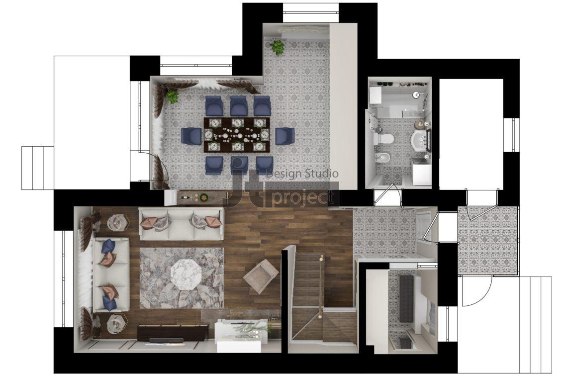 Планировка 1 этаж Истра Вилладж Парус