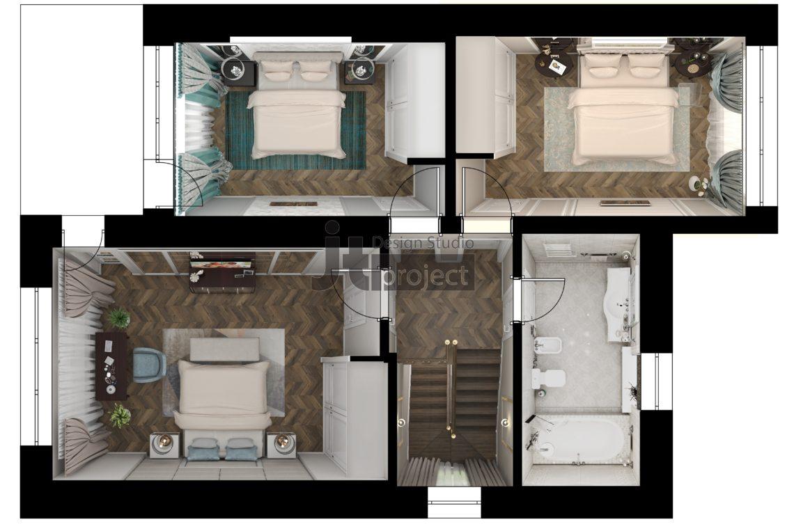 Планировка 2 этаж Истра Вилладж Парус