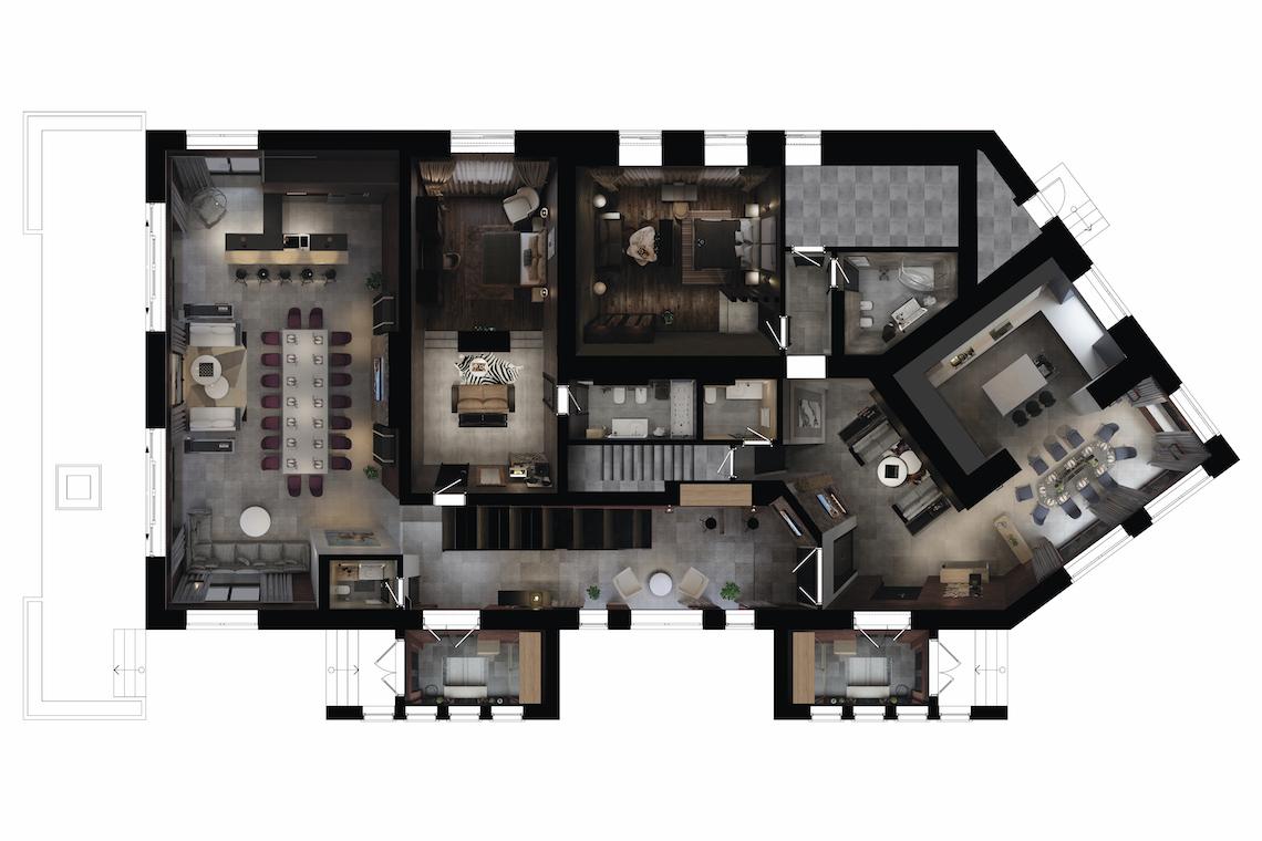 Планировочное решение 1 этаж Дом в Ростове-на-Дону